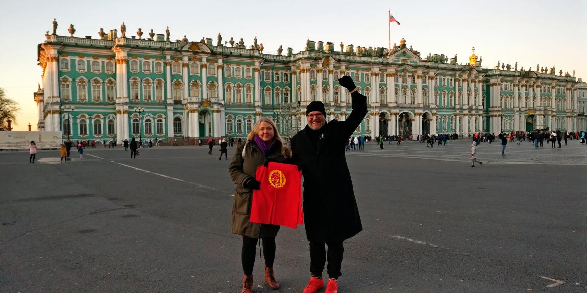 kommunismi Talvipalatsi JP Väisänen Petra Packalen Leningrad Pietari